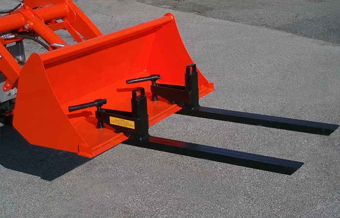 Compact Tractor Forks Clamp On Quick Attach