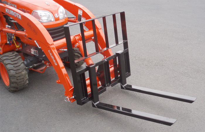 Quick Attach Forks For Kubota Bx Tractors Earth And Turf
