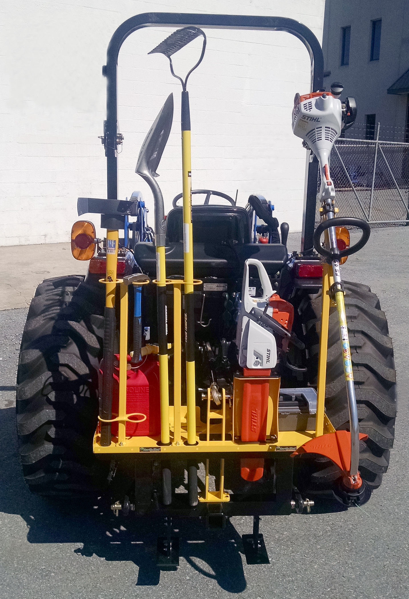 Tractor Carry All Box : Carry cat tool carrier for compact tractors earth and turf